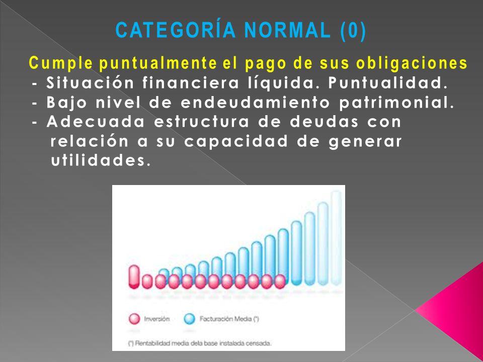 CATEGORÍA NORMAL (0) Cumple puntualmente el pago de sus obligaciones