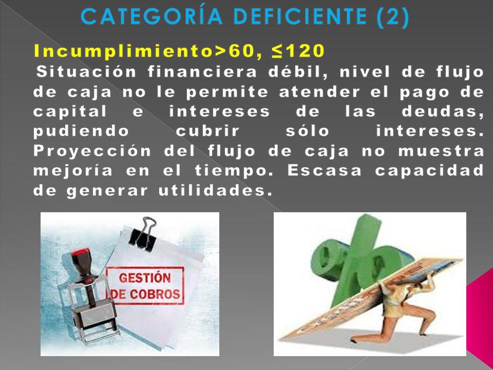 CATEGORÍA DEFICIENTE (2)