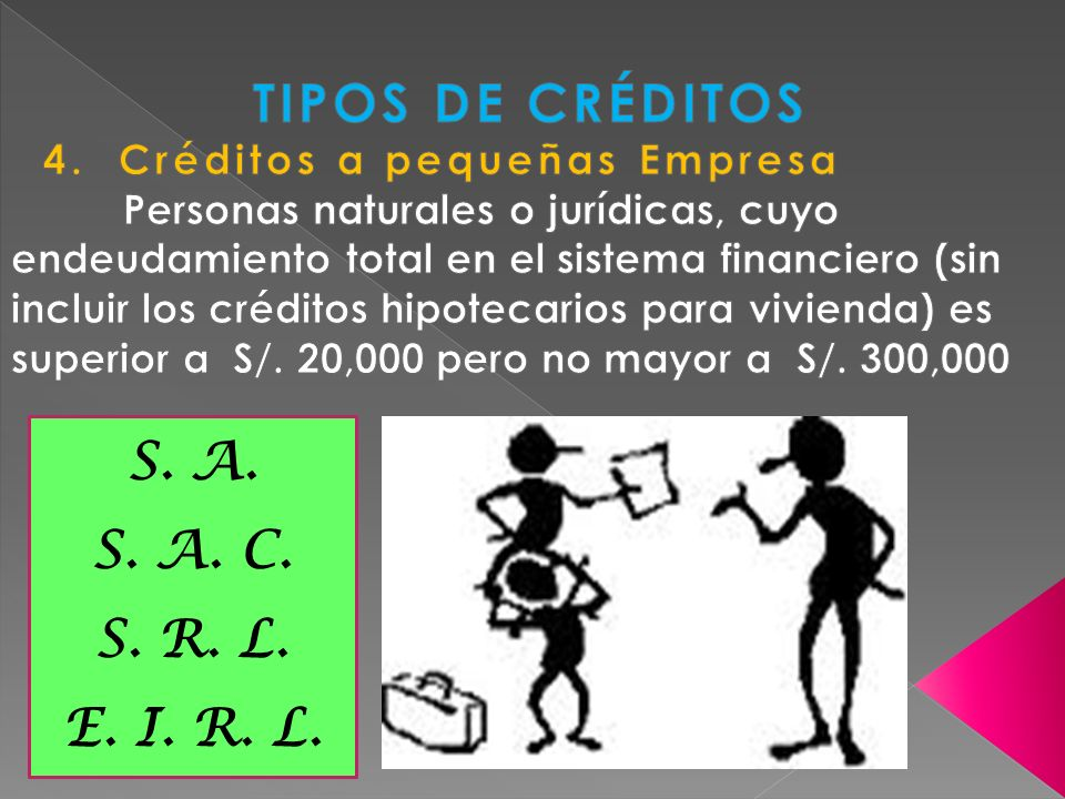 TIPOS DE CRÉDITOS S. A. S. A. C. S. R. L. E. I. R. L.