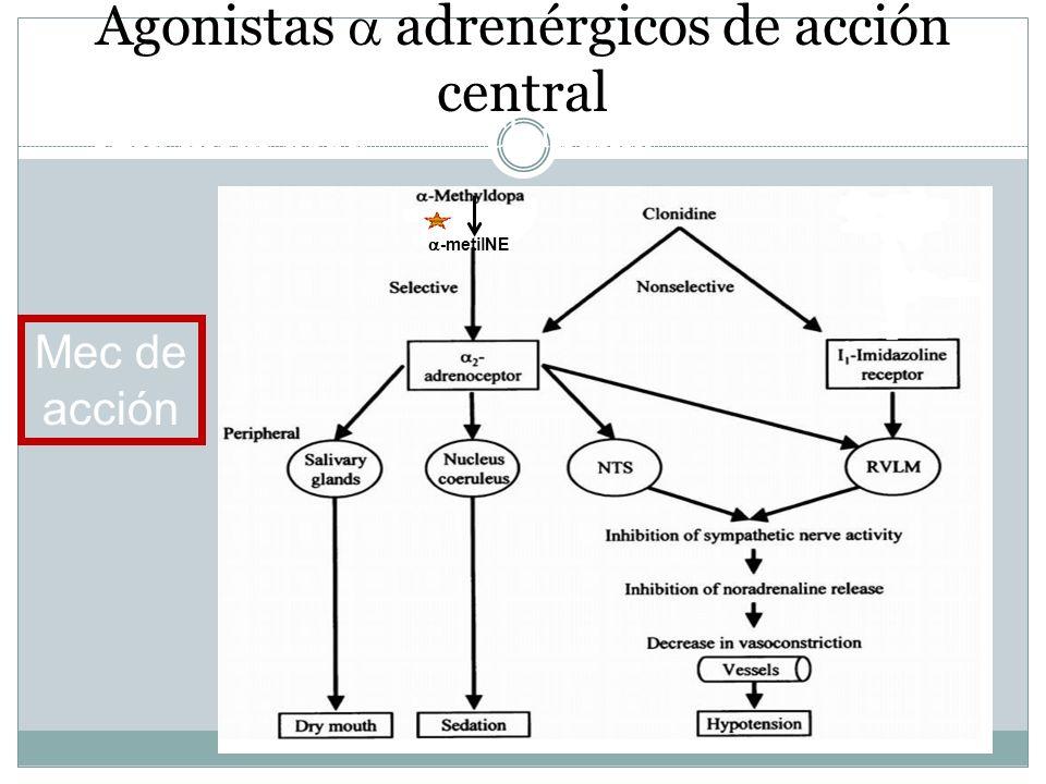 Agonistas  adrenérgicos de acción central