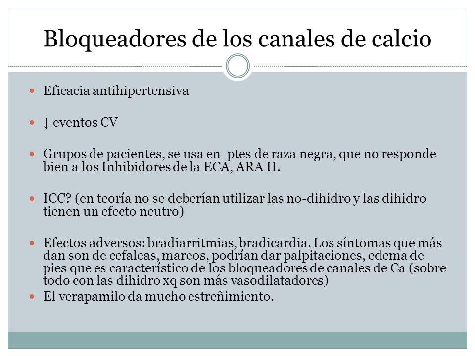 Bloqueadores de los canales de calcio