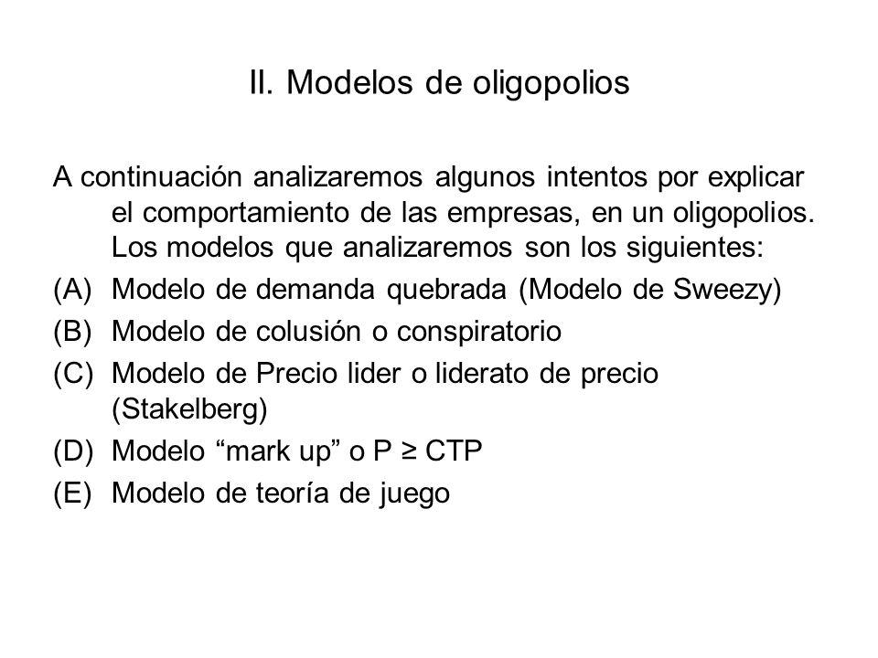 II. Modelos de oligopolios