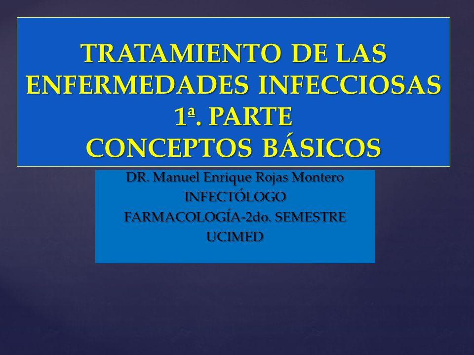 TRATAMIENTO DE LAS ENFERMEDADES INFECCIOSAS 1ª. PARTE CONCEPTOS BÁSICOS