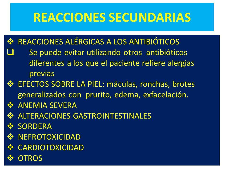 REACCIONES SECUNDARIAS