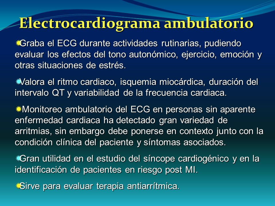 Electrocardiograma ambulatorio