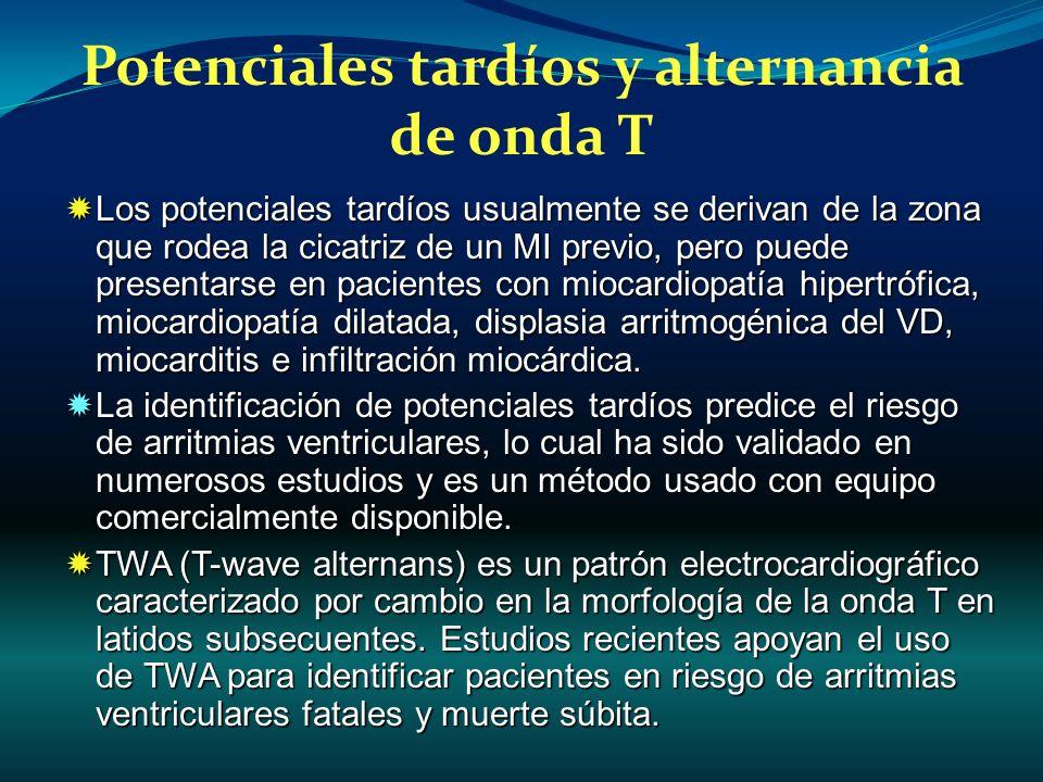 Potenciales tardíos y alternancia de onda T