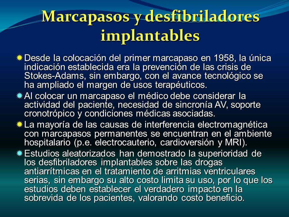 Marcapasos y desfibriladores implantables