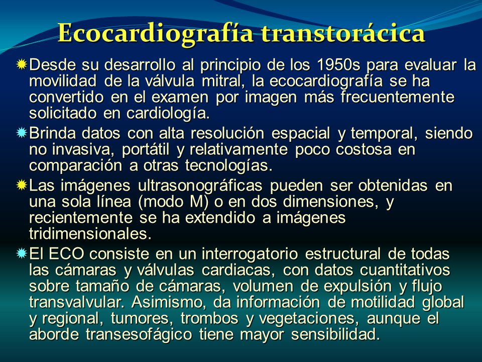 Ecocardiografía transtorácica