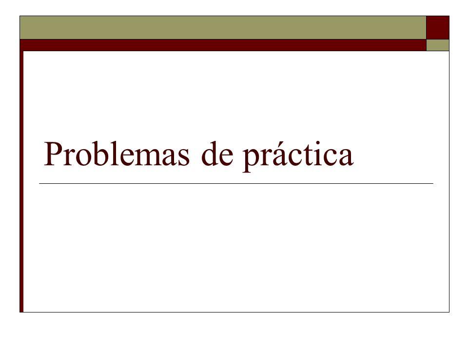 Problemas de práctica