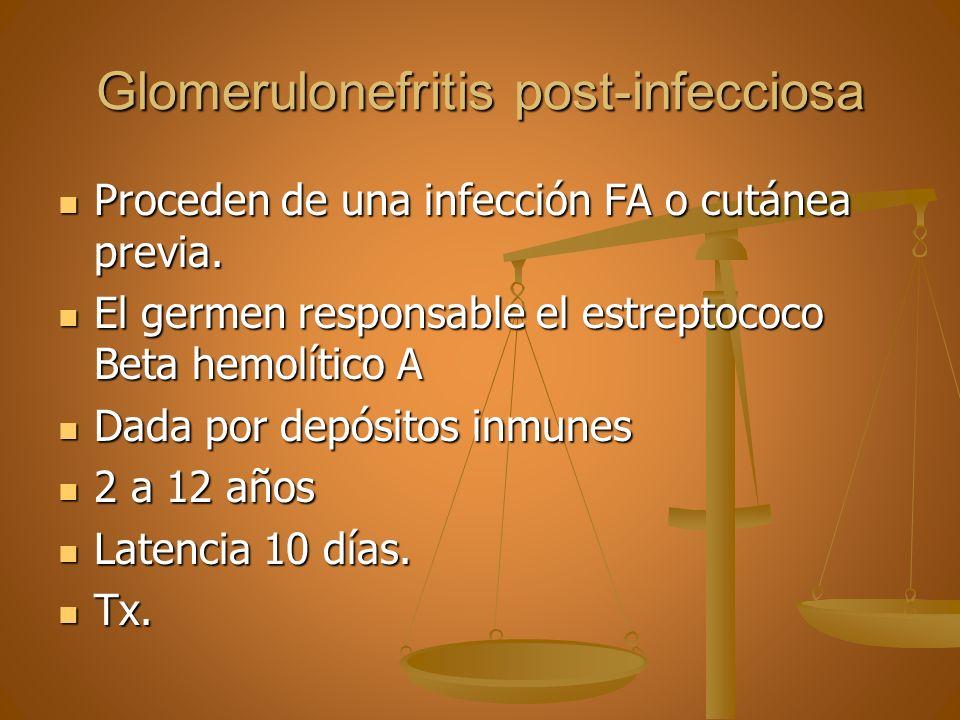Glomerulonefritis post-infecciosa