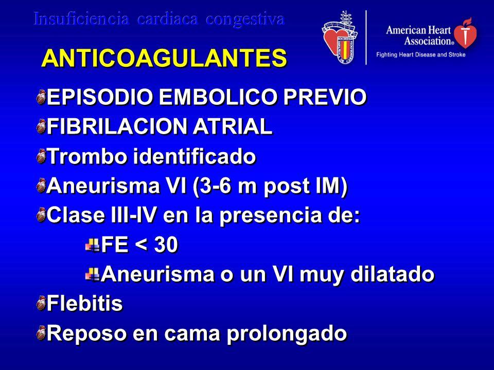 ANTICOAGULANTES EPISODIO EMBOLICO PREVIO FIBRILACION ATRIAL
