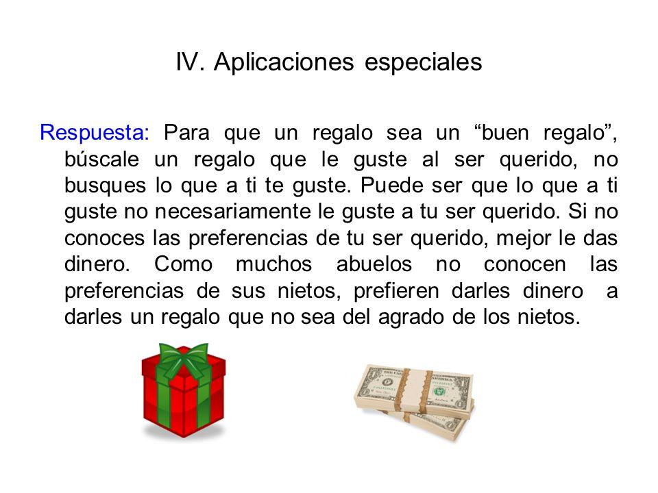 IV. Aplicaciones especiales
