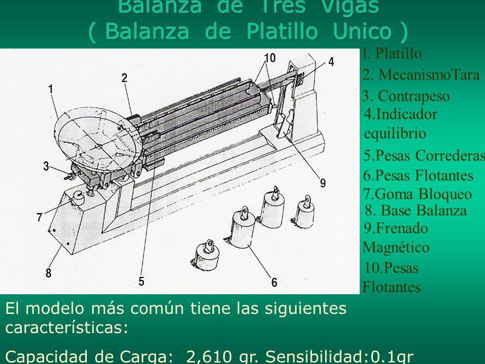 Balanza de Tres Vigas ( Balanza de Platillo Unico )