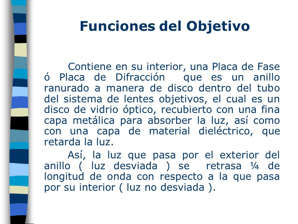 Funciones del Objetivo