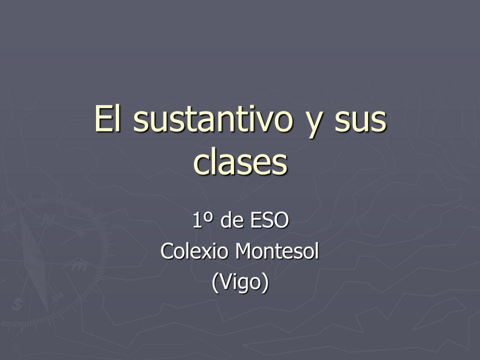 El sustantivo y sus clases