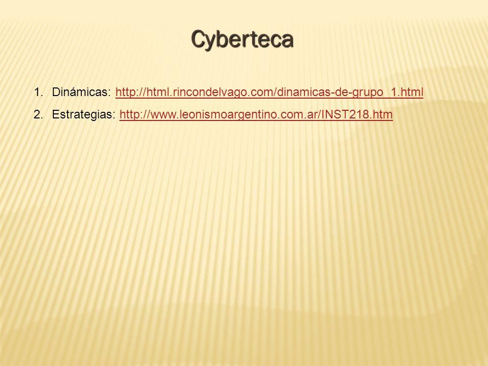 Cyberteca Dinámicas: http://html.rincondelvago.com/dinamicas-de-grupo_1.html.