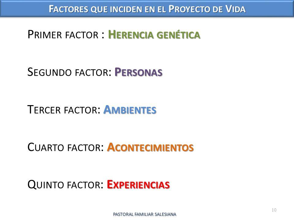 Factores que inciden en el Proyecto de Vida