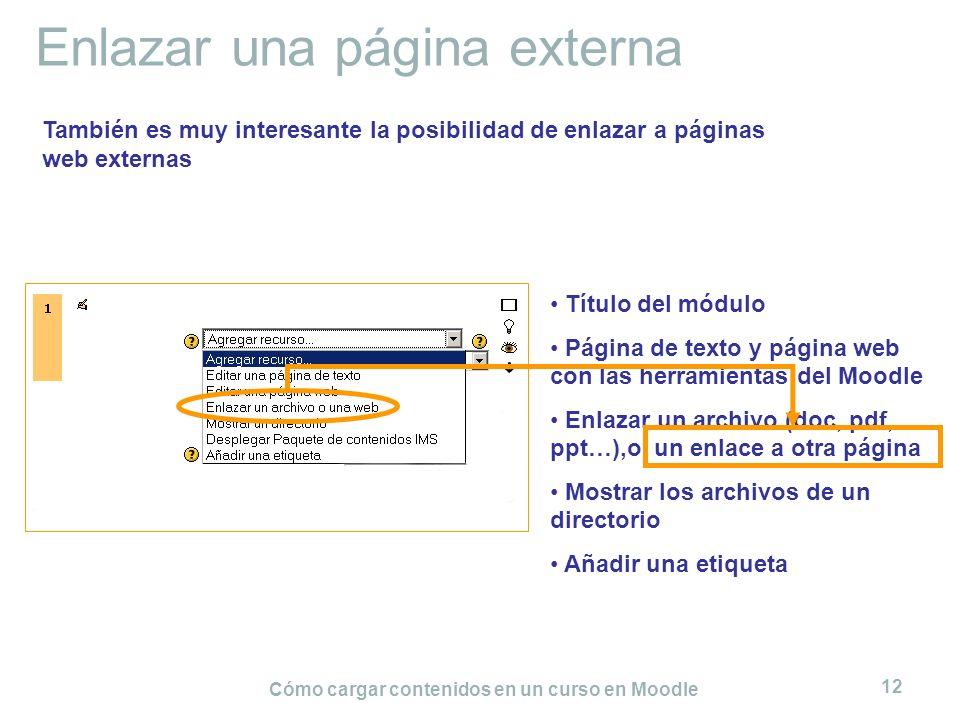 Enlazar una página externa