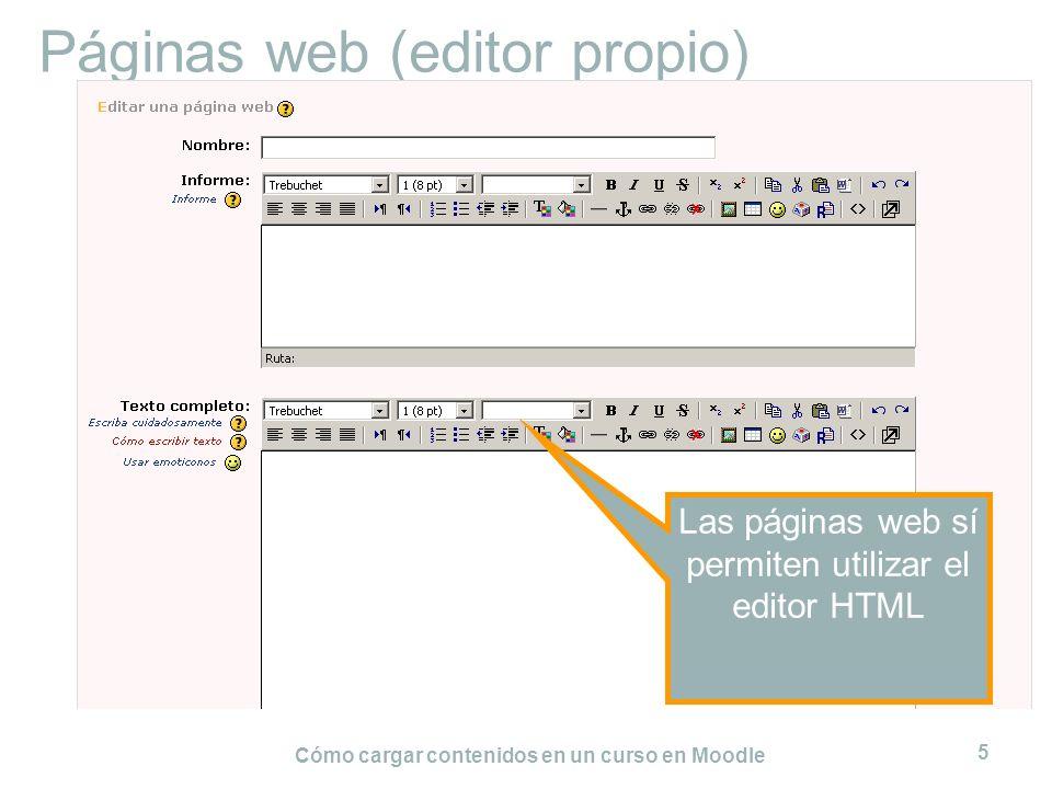 Páginas web (editor propio)