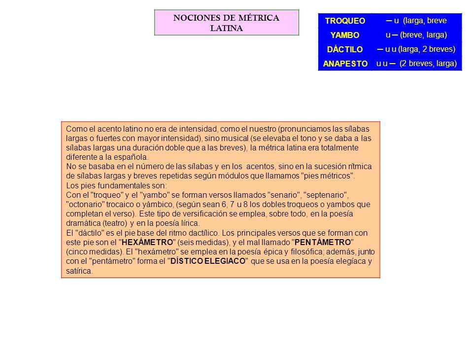 NOCIONES DE MÉTRICA LATINA