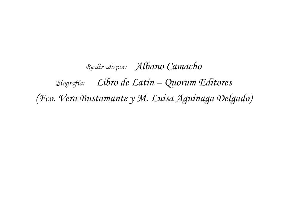 (Fco. Vera Bustamante y M. Luisa Aguinaga Delgado)