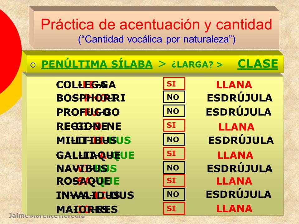 Práctica de acentuación y cantidad ( Cantidad vocálica por naturaleza )