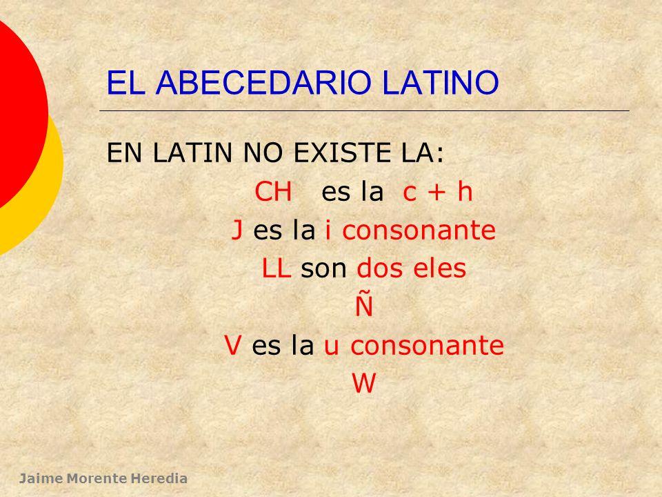 EL ABECEDARIO LATINO EN LATIN NO EXISTE LA: CH es la c + h