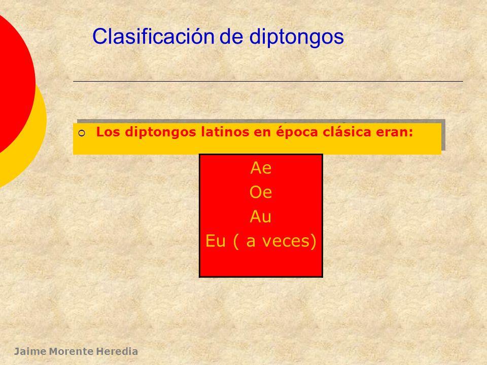 Clasificación de diptongos