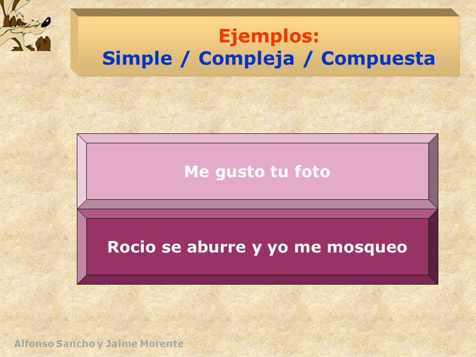 Ejemplos: Simple / Compleja / Compuesta