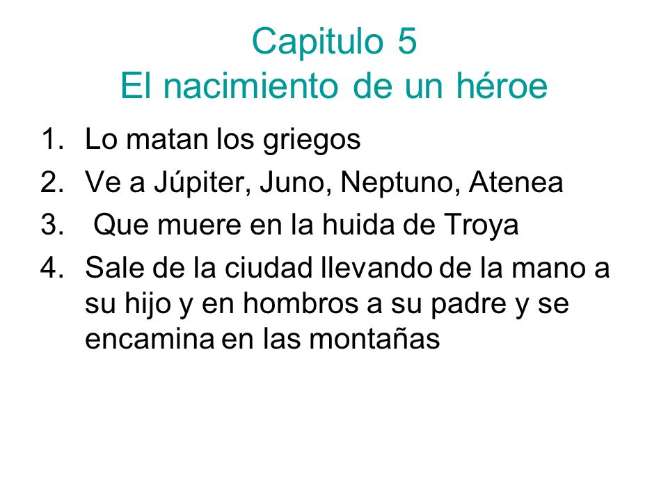 Capitulo 5 El nacimiento de un héroe