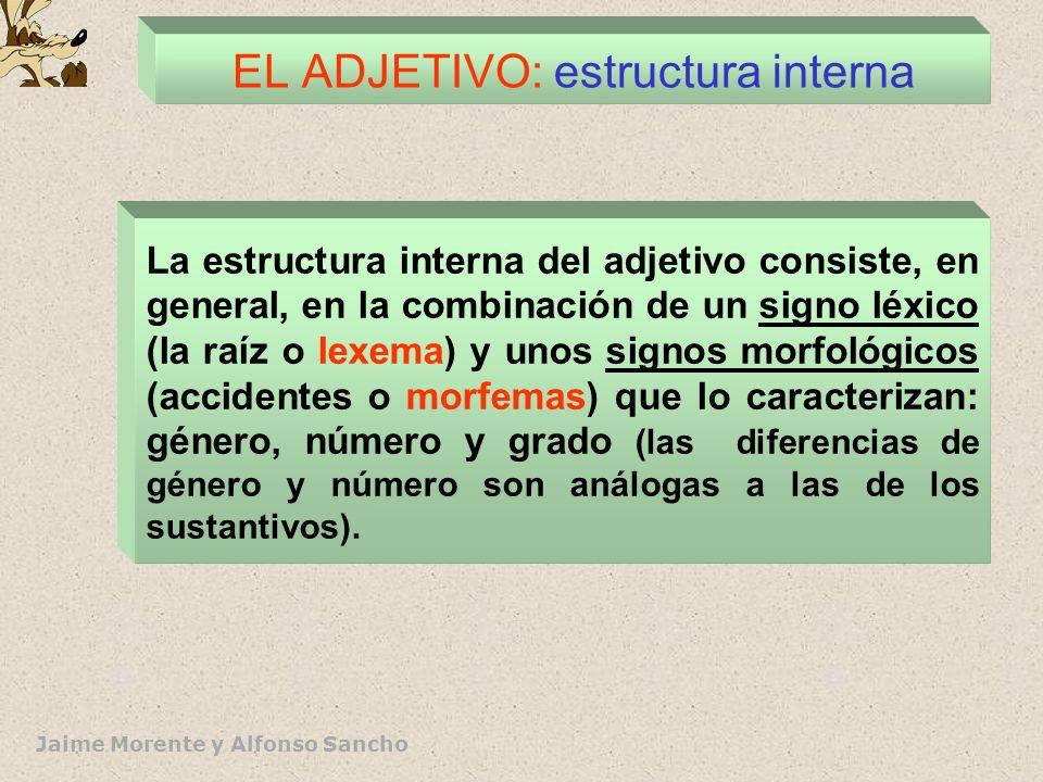 EL ADJETIVO: estructura interna