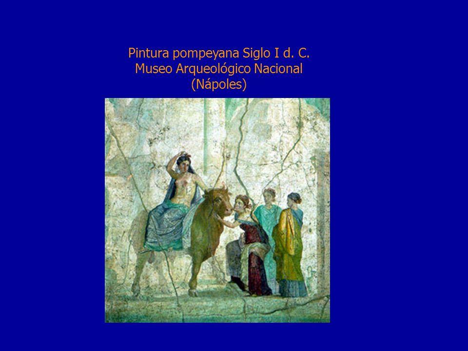 Pintura pompeyana Siglo I d. C. Museo Arqueológico Nacional (Nápoles)