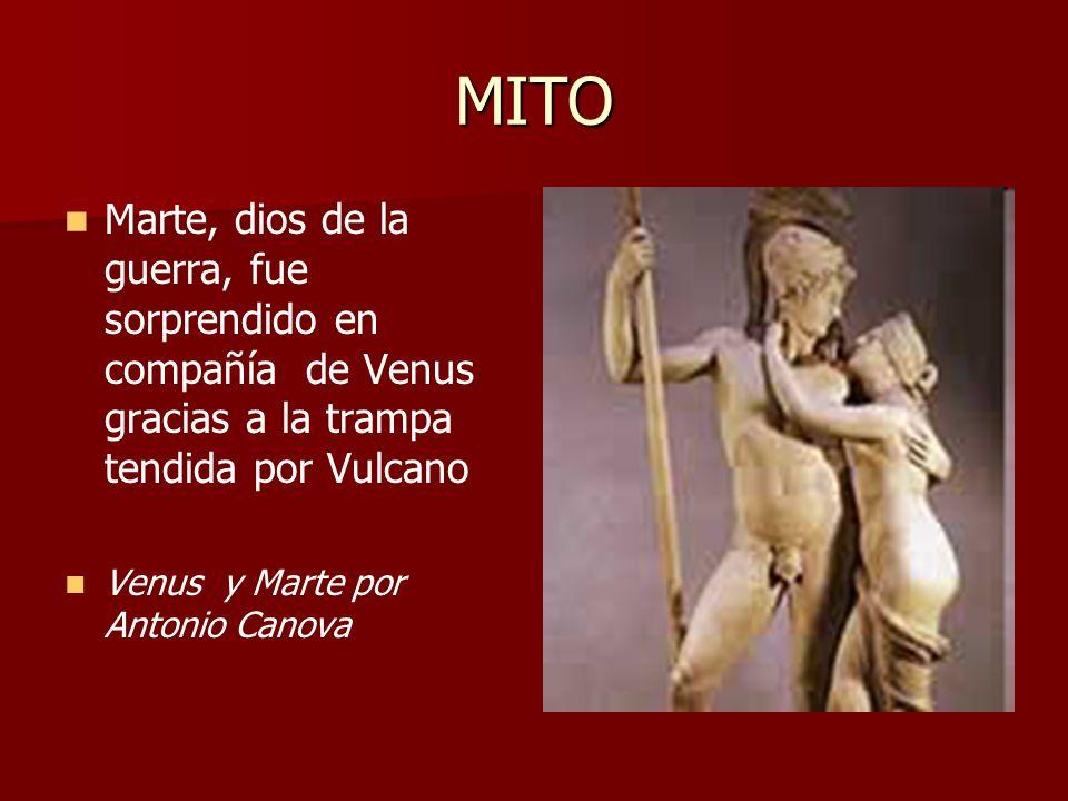 MITO Marte, dios de la guerra, fue sorprendido en compañía de Venus gracias a la trampa tendida por Vulcano.