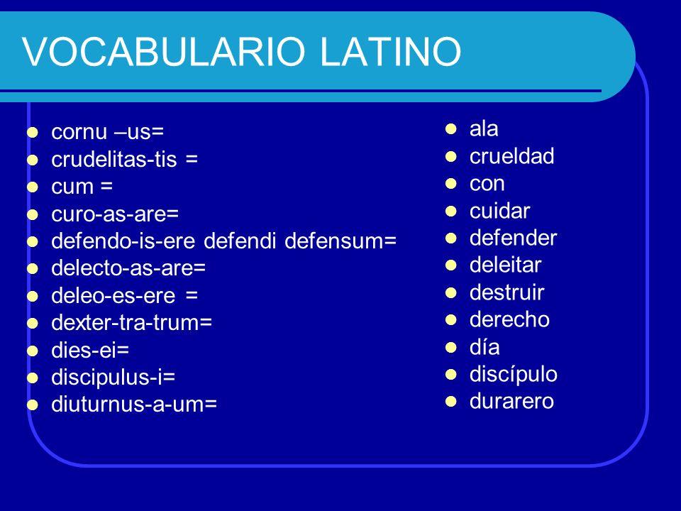 Vocabulario Latin 76