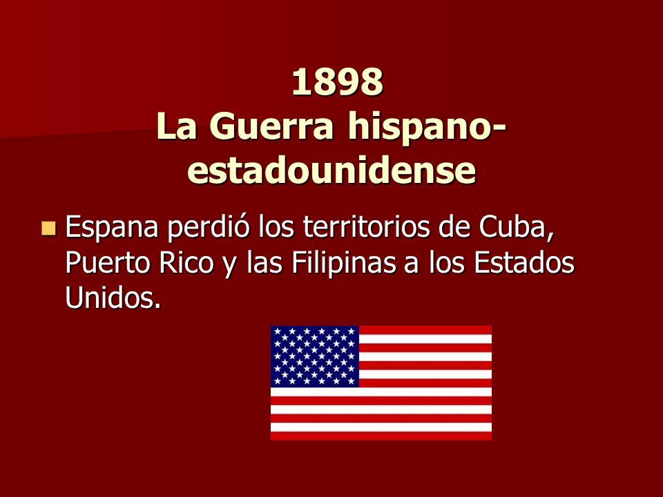 1898 La Guerra hispano-estadounidense