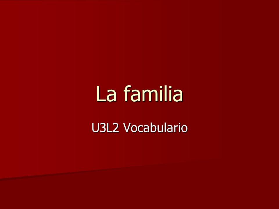 La familia U3L2 Vocabulario