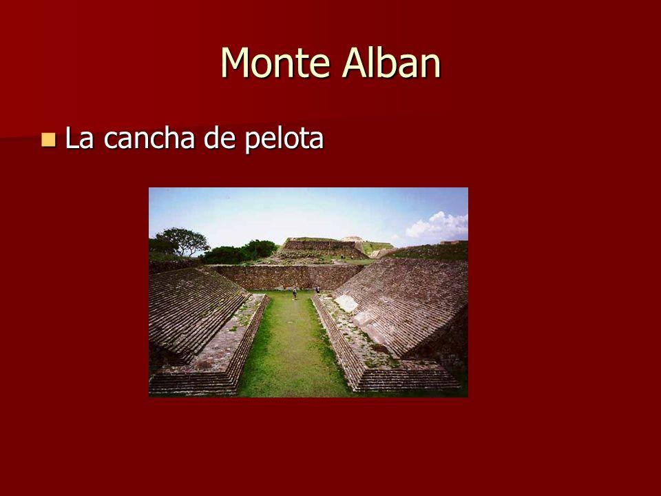 Monte Alban La cancha de pelota