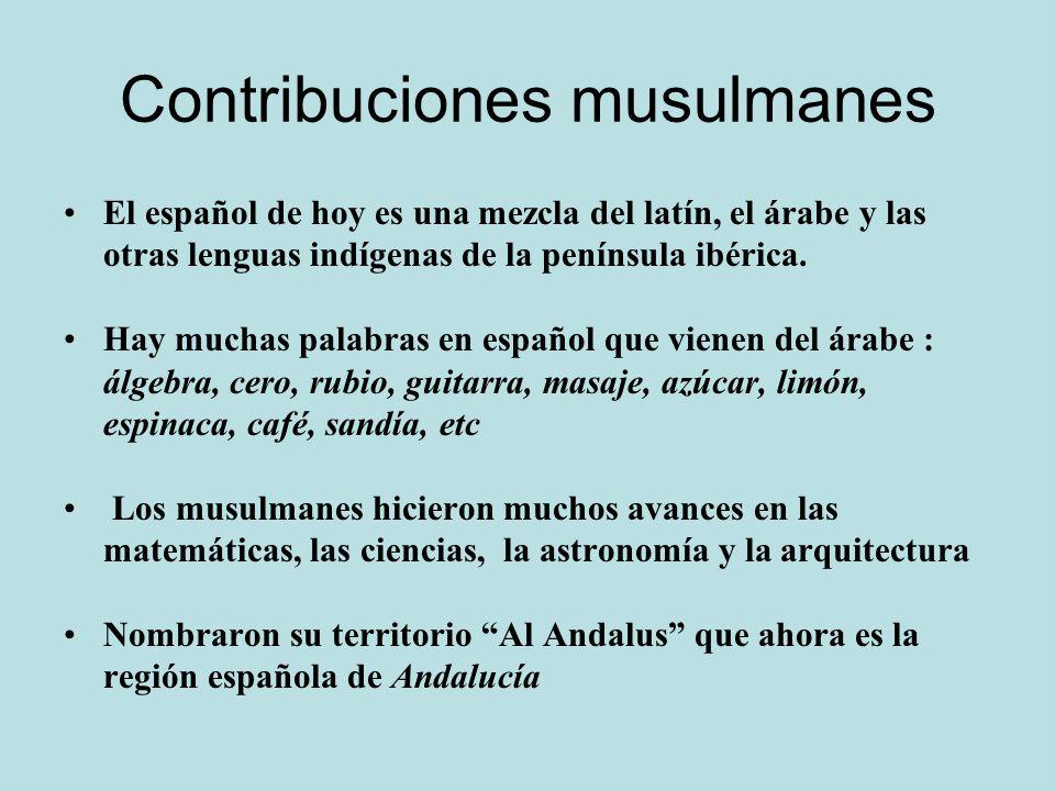 Contribuciones musulmanes
