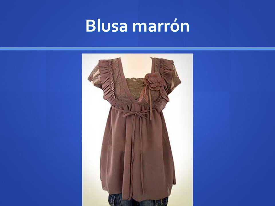 Blusa marrón