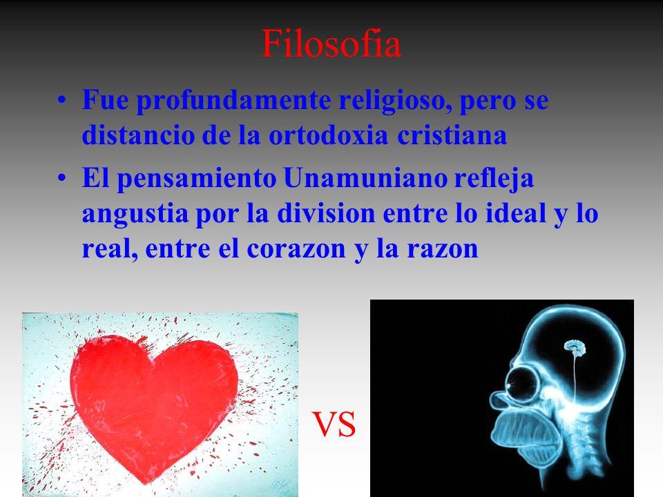 FilosofiaFue profundamente religioso, pero se distancio de la ortodoxia cristiana.