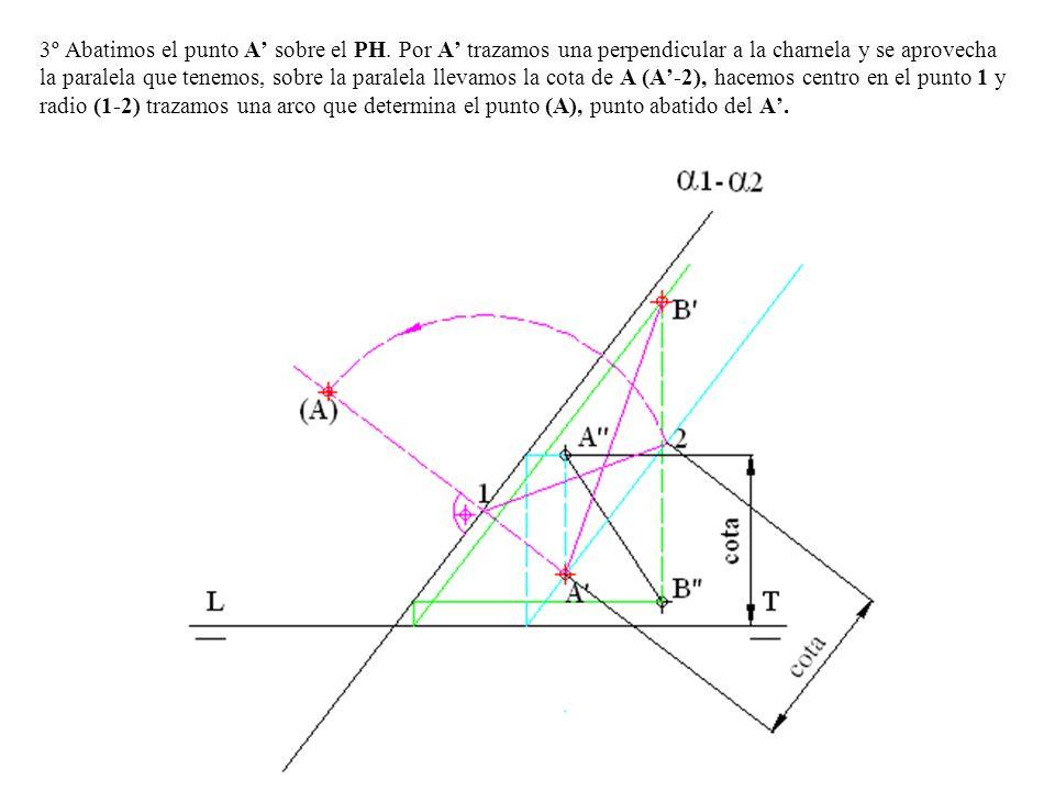 3º Abatimos el punto A' sobre el PH