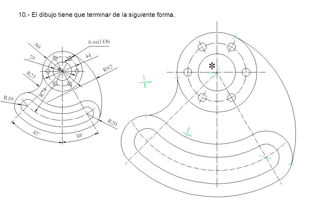 10.- El dibujo tiene que terminar de la siguiente forma.