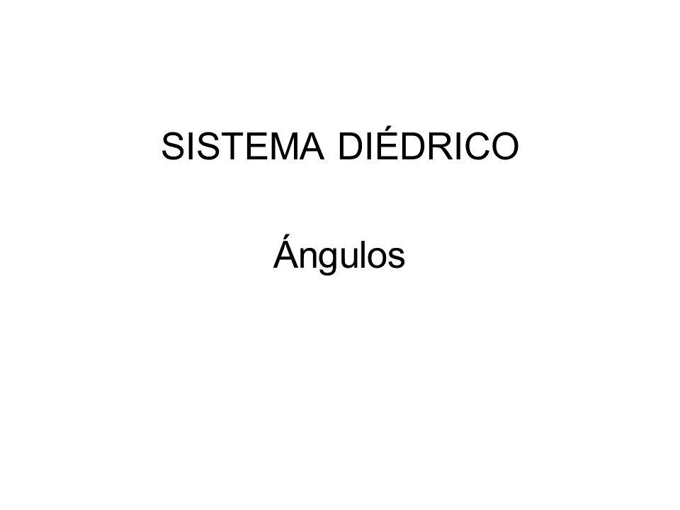 SISTEMA DIÉDRICO Ángulos