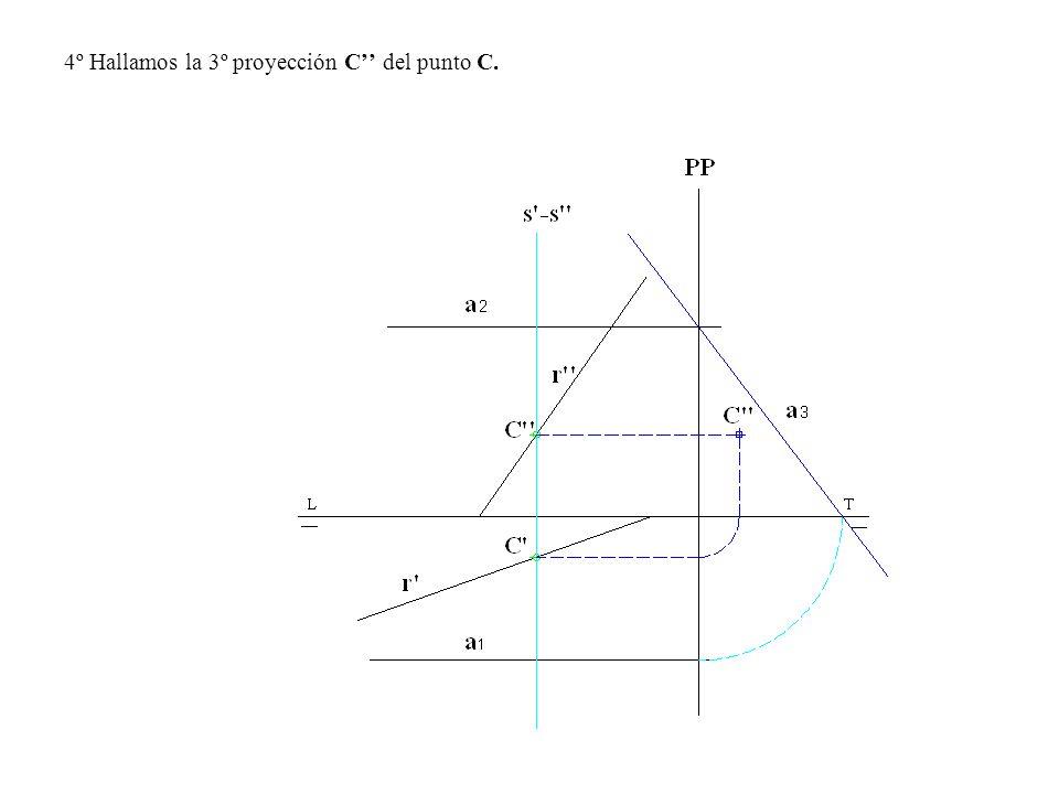 4º Hallamos la 3º proyección C'' del punto C.