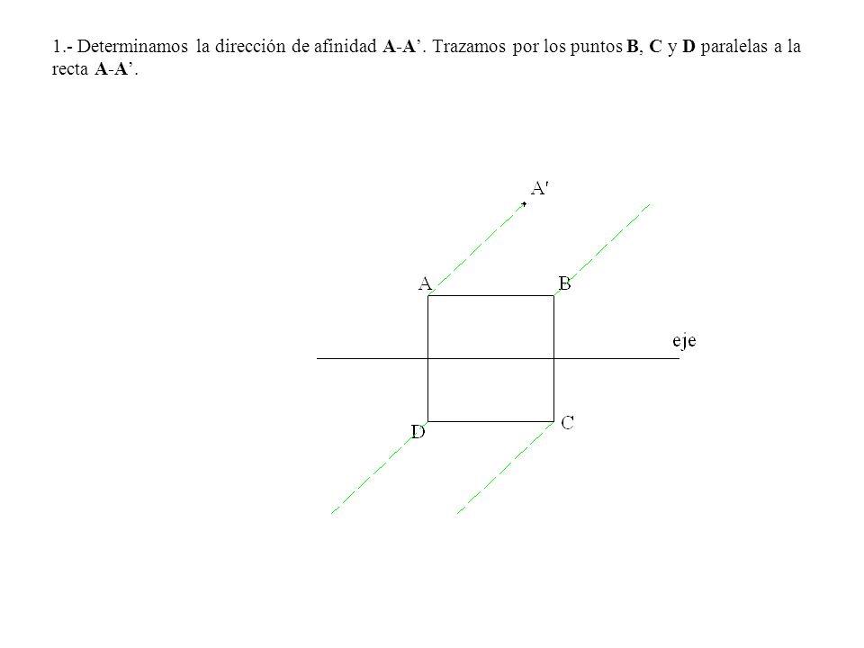 1. - Determinamos la dirección de afinidad A-A'
