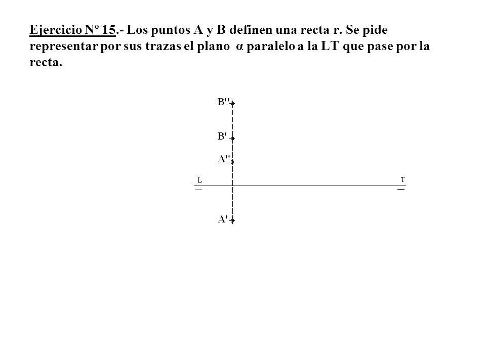 Ejercicio Nº 15. - Los puntos A y B definen una recta r