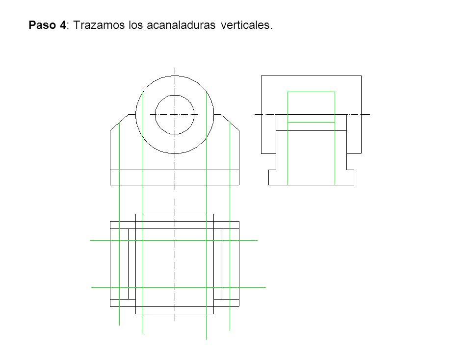 Paso 4: Trazamos los acanaladuras verticales.