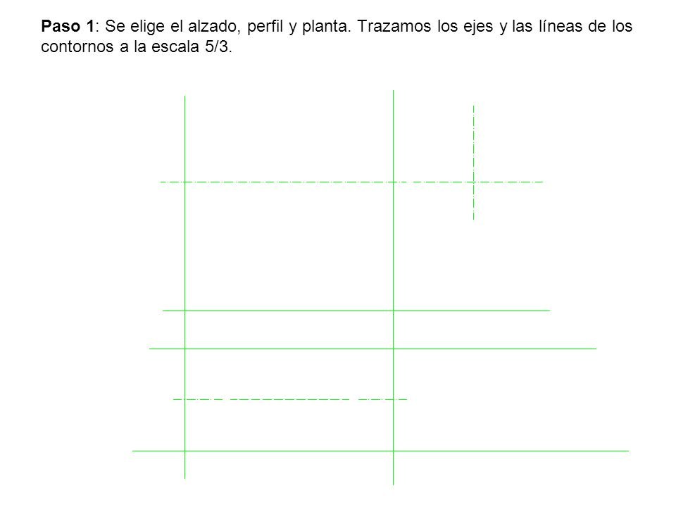 Paso 1: Se elige el alzado, perfil y planta