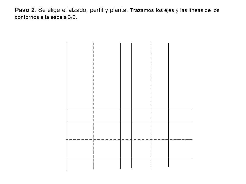 Paso 2: Se elige el alzado, perfil y planta