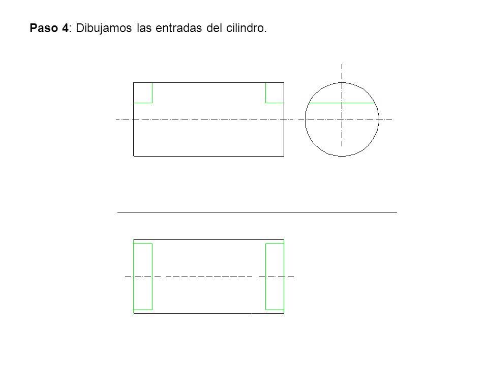 Paso 4: Dibujamos las entradas del cilindro.